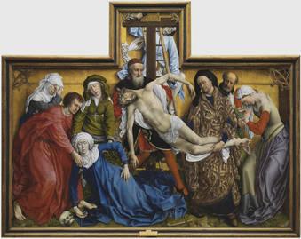 El Descendimiento (ca. 1435) del Museo del Prado
