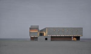 Exterior de la biblioteca junto al mar. Fotografía de Su Shengliang