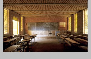 Detalle del interior de la escuela. Kére Architecture.
